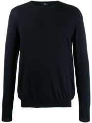Fay Crew Neck Jumper Blue