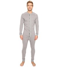 2Xist Tartan Union Suit Heather Grey Yarn Dye Men's Pajama Sets Gray