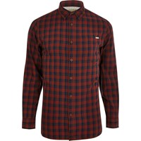 Jack And Jones River Island Red Vintage Check Shirt