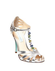 Betsey Johnson Sb Song Satin Stilettos Silver Metal