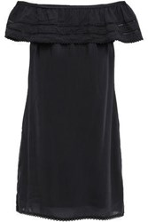Tart Collections Woman Off The Shoulder Modal Gauze Mini Dress Black