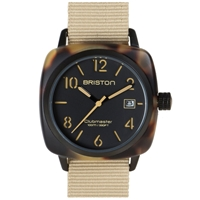 Briston Clubmaster Hms Watch Black Matte Tortoise And Khaki