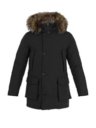 Woolrich Arctic Fox Fur Trimmed Down Parka Black