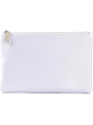 Jil Sander Pebbled Clutch White
