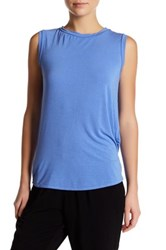 Michael Stars Twist Back Tank Blue