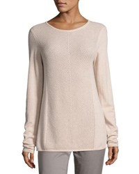 Vince Cashmere Chevron Stitch Sweater Light Pink