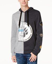 American Rag Men's Asymmetrical Hoodie Created For Macy's Clean Coal
