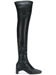 Alyx Over The Knee Square Toe Boots Black