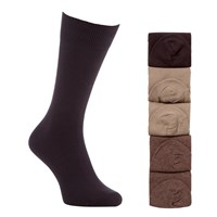 John Lewis Cotton Rich Socks Pack Of 5 Brown