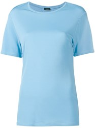 Joseph Plain T Shirt Blue