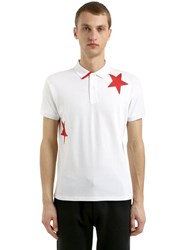 Invicta Stars Cotton Pique Polo White Red