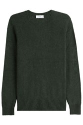 Closed Pullover With Wool And Alpaca Green