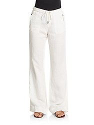 Joie Marienne Cropped Cargo Track Pants Porcelain