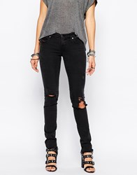 Diesel Skinzee Low Rise Super Skinny Jeans With Distressing Blue