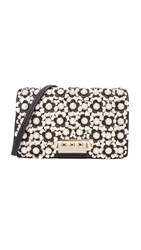 Zac Posen Earthette Floral Cross Body Bag Black