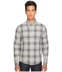 Jack Spade Palmer Heathered Double Face Plaid Button Down Grey