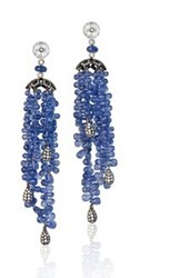 Fabio Salini Earrings Falling Star With Sapphires Diamonds And White Gold Blue