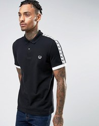 Fred Perry Sports Authentic Polo Shirt In Black Black White