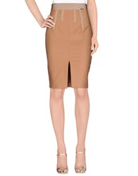 Elisabetta Franchi 24 Ore Skirts Knee Length Skirts Women Skin Color