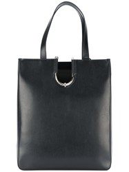 Thierry Mugler Large Tote Bag Leather Black