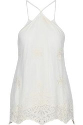 Tart Collections Embroidered Tulle Top Ivory