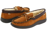 L.B. Evans Atlin Saddle Suede W Sherpa Lining Slippers Tan
