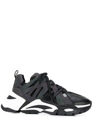 Flash Lace Up Sneakers Black