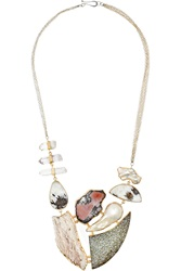 Melissa Joy Manning 14 Karat Gold And Sterling Silver Multi Stone Necklace