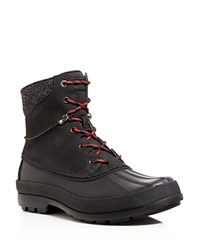 Sperry Cold Bay Boots With Vibram Arctic Grip Black