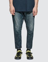 Denim By Vanquish And Fragment One Year Wash Ankle Cut Jeans Blue