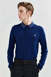 Fred Perry Tramline Tipped Knit Sweater Navy