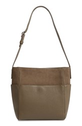 Treasure And Bond Campbell Leather Suede Bucket Bag Green Olive Grove