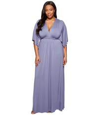 Rachel Pally Plus Size Long Caftan Dress White Label Nimbus Women's Dress Blue