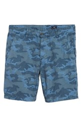 Ag Jeans Wanderer Slim Fit Cotton And Linen Shorts Camo Pacific Coast