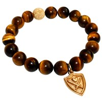 Aiden Chase Wizardly Tiger Eye Bracelet Gold