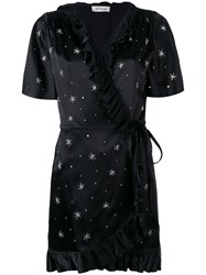 Attico Beaded Stars Wrap Dress Women Polyamide Spandex Elastane Acetate Glass 2 Black