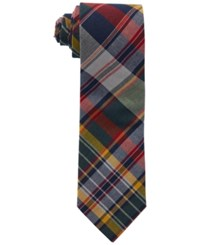 Polo Ralph Lauren Narrow Madras Tie Navy Green