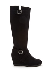 Forever 21 Knee High Faux Suede Boots Black