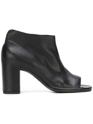 Roberto Del Carlo Open Toe Boots Women Calf Leather Leather 40 Black