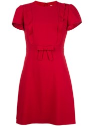 Red Valentino Front Bow Dress Pink Purple