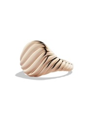 David Yurman Cable Pinky Ring In Rose Gold