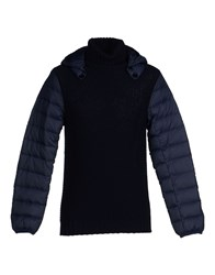 Emporio Armani Ea7 Knitwear Turtlenecks Men Dark Blue