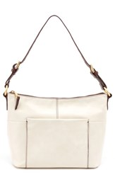 Hobo 'Charlie' Leather Shoulder Bag White Magnolia