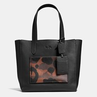 Coach Manhattan Tote In Wild Beast Print Mixed Materials Saddle Wild Beast