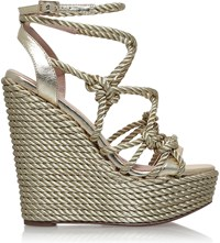 Kg By Kurt Geiger Notty Rope Detail Fabric Sandals Gold