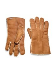 Prada Shearling Gloves Dark Brown Tan