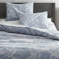 Cb2 The Hill Side Giant Floral Print Full Queen Duvet Cover
