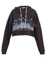 Re Done Originals X The Attico Scenery Print Hooded Sweatshirt Black Multi