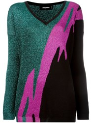 Dsquared2 Tiger Flash Jumper Fuchsia