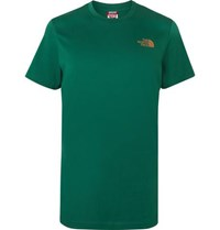 The North Face Dome Logo Print Cotton Jersey T Shirt Green